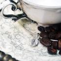 kávé szem medál, Ékszer, Medál, Karkötő, Eredeti sterling ezüst kávé szem medálnak, karkötőre ,bokaláncra, Meska