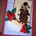 Diplomaosztóra - Üdvözlő kártya quilling technikával  15x21 cm, Naptár, képeslap, album, Mindenmás, Ajándékkísérő, Képeslap, levélpapír, Ajándékkísérő,de önálló ajándékként is megállja a helyét, biztosan egyedi darab lesz. Az eredeti üdv..., Meska