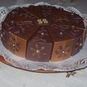 """Party torta születésnapra- közepes, Esküvő, Nászajándék, Esküvői dekoráció, """"Csokitorta""""- négerbarna- bronzbarna színekben,szülinapra, névnapra, ballagásra, 20 cm -es átmérővel..., Meska"""