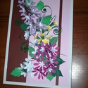 Lila csillagvirág csokor - falikép, Dekoráció, Otthon, lakberendezés, Kép, Falikép, A4-es méretű lila csillagvirágokból álló virágcsokor pasztell színekben, fehér műanyag keretben. A l..., Meska