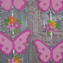 Pillangós, virágos függődísz - rózsaszín, Baba-mama-gyerek, Dekoráció, Gyerekszoba, Mobildísz, függődísz, Ajtódísz, kopogtató, Mindenmás, Szeretnéd feldobni a gyerekszobát? Biztos sikerül, ha ezt a függődííszt választod! Pink, rózsaszín,..., Meska