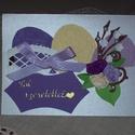 Húsvéti képeslap - lila-krémszín, Naptár, képeslap, album, Ajándékkísérő, Képeslap, levélpapír, 10x15 cm-es húsvéti képeslap, ajándékkísérő, üdvözlő kártya. Szabvány méretű borítékban postázható i..., Meska