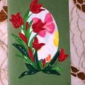 Húsvéti képeslap - tulipános, Naptár, képeslap, album, Ajándékkísérő, Képeslap, levélpapír, 10x15 cm-es húsvéti képeslap, ajándékkísérő, üdvözlőkártya. Szabvány méretű borítékban postázható is..., Meska