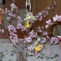 Tojásfa dekoráció- csibe, Dekoráció, Húsvéti díszek, Ünnepi dekoráció, Kb. 5 cm-es húsvéti dísz, tojásfa dekorálására üde tavaszi színfolt. Quilling (papírcsík) technikáva..., Meska