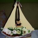 Csokicsokor- hajó macival, Esküvő, Nászajándék, Ballagás, Kb. 35 cm magas, 25 cm széles 12 szálból álló, hajótestre épített csokicsokor kompozíció. Magyarorsz..., Meska