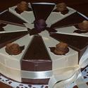 Party torta  - csoki-vanília mini, Esküvő, Esküvői dekoráció, Nászajándék, Papírművészet, Szülinapra, névnapra, ballagásra, nászajándék átadására, bármilyen alkalomra érdekes meglepetés. 15..., Meska