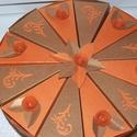 Party torta közepes: narancs - fahéj, Esküvő, Férfiaknak, Esküvői dekoráció, Nászajándék, 20 cm -es átmérőjű party torta narancs - fahéj  színösszeállításban születésnapra, de névnapra, ball..., Meska