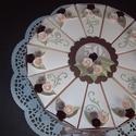 Jubileumi torta- extra nagy, Dekoráció, Esküvő, Ünnepi dekoráció, Nászajándék, 30 cm átmérőjű, extra nagy jubileumi torta, 50. születésnapra készült. Gyöngyházfényű alapkarton bei..., Meska
