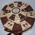 Party torta - emeletes csoki,vanília színekben, Esküvő, Férfiaknak, Nászajándék, 15, és 25 cm átmérőjű emeletes, 24 szeletes  party torta nászajándék átadására. Egyedi megrendelésre..., Meska