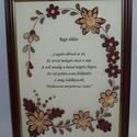 Régi áldás - falikép, Quilling (papírcsík feltekerése) technikával k...