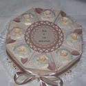 Nászajándék átadó torta- krém-barack-golden rose, Elegáns, romantikus nászajándék átadó torta ...