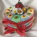 Ovis kínáló torta- katicás, szivárványos , Katica rajongók, szivárvány kedvelők, kislány...