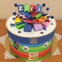 Mancs őrjárat ovis kínáló torta , 20 cm átmérőjű,  a dekorációval együtt 15 c...