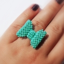 Világos kék/türkiz gyűrű -delfin77- kérésére, Ékszer, Gyűrű, - , Meska