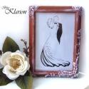 Romantikus kis képkeret, Otthon, lakberendezés, Dekoráció, Esküvő, Képkeret, tükör, Ezt a kis keretet 3D technikával, csiszolással, festéssel és antikolással tettem vintage hangolatúvá..., Meska