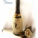 INGYEN POSTA!!! Esküvői ajándék zsinórozott uveg, Ezek az üvegek már gazdára leltek, de szívesen...