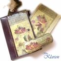 Virágok naplóborító, füzet, szemüvegtok szett, INGYEN POSTA!!! Egy műbőr napló/füzetborítót...