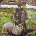 Pásztor birkával eredeti olajfestmény (blueklarion) - Meska.hu