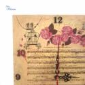 Vintage kottás, rózsás, kalitkás falióra (blueklarion) - Meska.hu