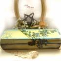 Vintage virágos tolltartó, INGYEN POSTA!!! A fa tolltartó dobozt előszőr a...