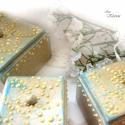 Vintage fedeles dobozkák (blueklarion) - Meska.hu