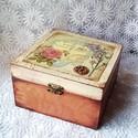 Vintage doboz, INGYEN POSTA!!! A dobozt előszőr alapoztam, csis...