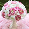 Vintage asztaldísz, örök csokor, selyemvirág csokor, esküvő dekoráció, Esküvő, Otthon, lakberendezés, Esküvői dekoráció, Asztaldísz, Virágkötés, Mindenmás, Elkészülési idő kb. 2 hét, annyi idő amíg legyártják az alját!!  Unalmas virágdoboz helyett válassz..., Meska