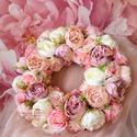 Vintage tavaszi selyemvirág kopogtató - virágkoszorú - selyemvirágos ajtódísz, Otthon, lakberendezés, Dekoráció, Esküvő, Koszorú, Olyan ajtódíszre vágytam ami a karácsonyi időszakot leszámítva egész évben díszítheti az ajtót, így ..., Meska
