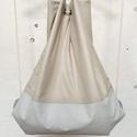 táska.gymbag 04, Táska, Hátizsák, Varrás, Könnyű nyári zsinóros hátizsák. Fényes vízlepergető anyagból készült. Méretei: 38 x 44 cm, Meska