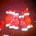 Piros-fehér textil szaloncukor, Karácsonyi, adventi apróságok, Karácsonyfadísz, Karácsonyi dekoráció, Klasszikus piros-fehér karácsonyi dísz. Mosható szaloncukor. 5 db/csomag. 2db egyszínű piros, ..., Meska
