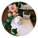 Big Rose fürdőbomba, Szépségápolás, Fürdőszobai kellék, Szappankészítés, Kozmetikum készítés, Kézzel festett, intenzíven pezsgő, bőrápoló fürdőbomba, rózsa illattal. 140g  A bőrápolásról kókusz..., Meska