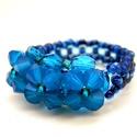 Opálos kék swarovski gyűrű, Ékszer, Gyűrű, Egészen egyszerű kis gyűrű, mégis nagyon mutatós ékszer. 4 mm-es caribbean blue opal swarovski krist..., Meska