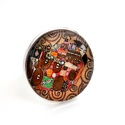 Klimt - Ölelés üveglencsés gyűrű, Ékszer, Gyűrű, Egyik kedvenc festőm Klimt (a másik Dali), tőle a z Ölelés c. festmény reprodukciójának részlete, 2,..., Meska
