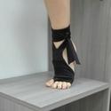 Pilates jóga edzőmamusz, Ruha, divat, cipő, Cipő, papucs, Női ruha, Ruha, Rugalmas fürdőruha anyagbôl készül, talpa neopren csúszásmentes. A lábujjak szabadon vannak,..., Meska