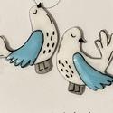 Galambpár fülbevaló, Kézzel rajzold galambok bedugós fülbevaló alap...