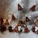 Karácsonyi angyalkák, Dekoráció, Ünnepi dekoráció, Karácsonyi, adventi apróságok, Karácsonyi dekoráció, Hímzés, Varrás, Tüneményes, légies kis angyalkák filc anyagból varrva, hímezve. Kitűnő választás apró figyelmességn..., Meska