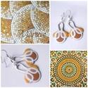 Mosaik, Ékszer, óra, Fülbevaló, Fémmegmunkálás, Tűzzománc, Egy utazás emléke vagy egy kedves minta tűzzománc fülbevalóban Marokkó látványosságait és színesség..., Meska