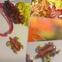 Brise, Ékszer, óra, Medál, Nyaklánc, Fémmegmunkálás, Tűzzománc, A természet inspiráló szín-játéka egy tűzzománc medálban.  Formáját és méretét egyedileg, fűrészelé..., Meska