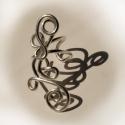 Kis tekert fülgyűrű - jobbos, Ékszer, Fülbevaló, Egyszerű, pici fülgyűrű ezüstözött rézdrótból tekergetve.  Mérete kb. 2,5 cm. , Meska