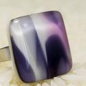 Rózsaszín-lila-fekete-fehér- üveg gyűrű, A felhő kollekcióban az üveg saját mintáját ...