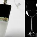 Fekete fehér varázs medál , Ékszer, óra, Nyaklánc, Medál, Üvegművészet, Varázslatosan csillogó üveget használtam, minden irányból más színben pompázik az üveg.  Tökéletes ..., Meska