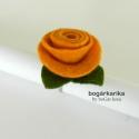 Rózsa gyűrű - sárga, Ékszer, óra, Gyűrű, A gyűrű alapja állítható, a rózsa mérete levéllel együtt kb. 3x4 cm, magassága kb. 2 cm.  Hozzá illő..., Meska