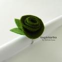 Rózsa gyűrű - spenót zöld (bogarkarika) - Meska.hu