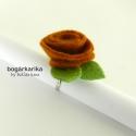 Rózsa gyűrű - rozsda barna (bogarkarika) - Meska.hu