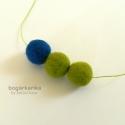 Nemez nyaklánc - zöld, kék, Akciós termék: eredeti ára 2300 Ft, most 1800 F...