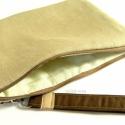 Kézi táska, neszesszer, irattartó, tároló, kozmetikai táska - drapp