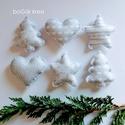 Jeges karácsonyi díszek - 6 db - függeszthető dekoráció, A karácsonyi kollekció részeként készültek e...