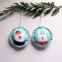 Maci és nyuszi karácsonyi dísz, A karácsonyi kollekció részeként készültek e...