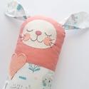 Szundi párna - nyuszi rózsaszínben, Hosszúkás kispárna, amit jó megölelni, ráfek...