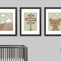Nagy kalandok várnak! (zöld, 3 darabos szett) - nyomat, illusztráció, print, poszter, falikép, dekoráció, Saját tervezésű illusztráció. Elsősorban gye...
